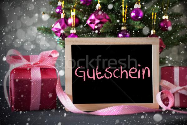 árbol regalos bokeh vale pizarra Foto stock © Nelosa