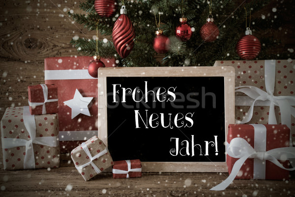 Nostalgic Christmas Tree, Snowflakes, Neues Jahr Means New Year Stock photo © Nelosa