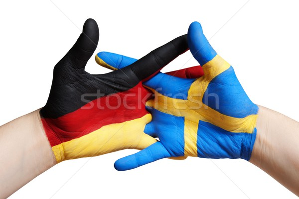 german and swedish hand Stock photo © Nelosa
