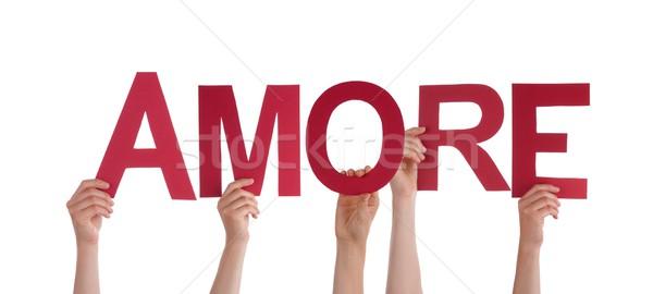 People Holding Amore Stock photo © Nelosa