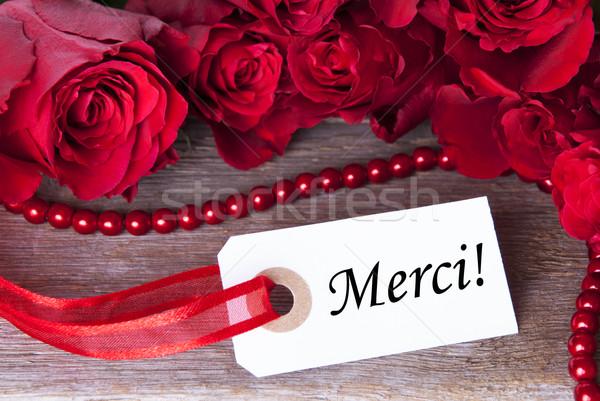 Rosy Background with Merci Stock photo © Nelosa