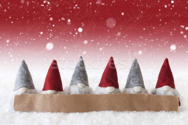 красный копия пространства Label реклама Рождества Сток-фото © Nelosa