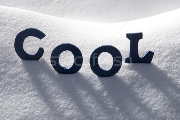 Blue Word Cool On Snow Stock photo © Nelosa