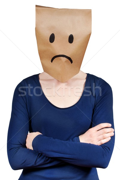 person symbolizing sadness Stock photo © Nelosa