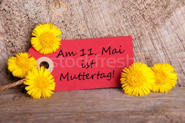 Label with Am 11 Mai ist Muttertag Stock photo © Nelosa
