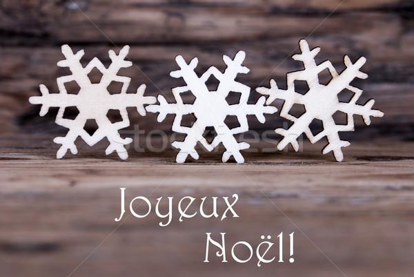 Snowflakes with Joyeux Noel Stock photo © Nelosa