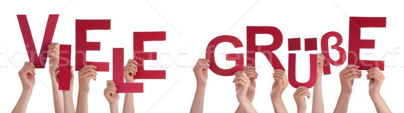 People German Word Viele Gruesse Means Regards Stock photo © Nelosa