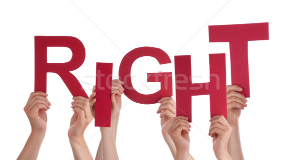 Many People Hands Holding Red Word Respect  Stock photo © Nelosa