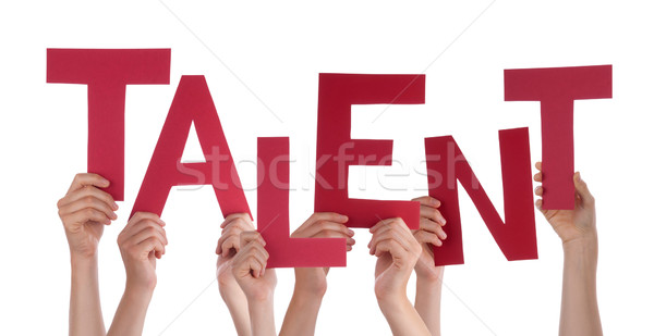 Many People Hands Holding Red Word Talent Stock photo © Nelosa