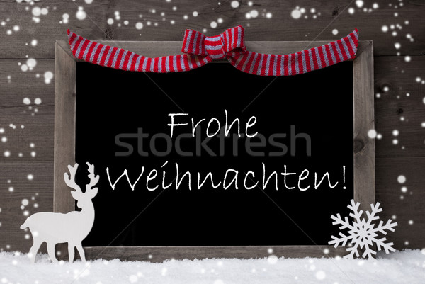 Gray Card, Snowflake, Loop, Frohe Weihnachten Mean Christmas Stock photo © Nelosa