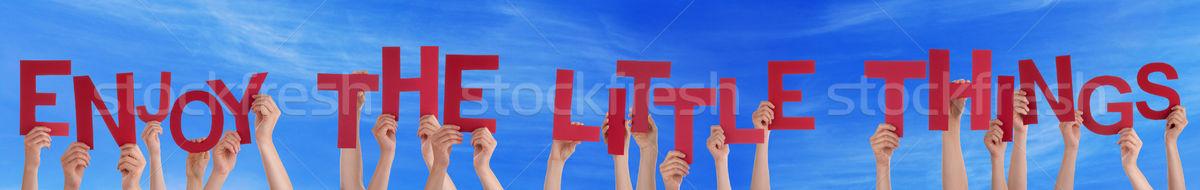 Stock fotó: Emberek · kezek · tart · szó · élvezi · kicsi