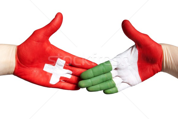 swiss italian handshake Stock photo © Nelosa