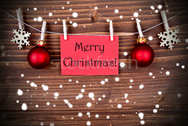 Snowy Christmas Greetings Stock photo © Nelosa