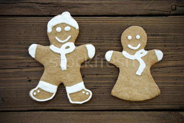 Happy Decorated Ginger Bread Couple Stock photo © Nelosa