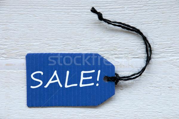 Stock fotó: Kék · címke · angol · szöveg · címke · fekete
