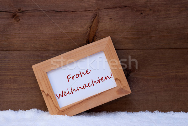Picture Frame With Text Frohe Weihnachten Means Merry Christmas Stock photo © Nelosa