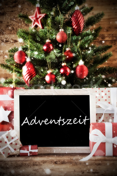 Christmas Tree With Adventszeit Means Advent Season Stock photo © Nelosa