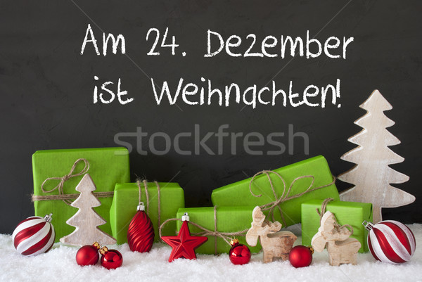 Decoration, Cement, Snow, Weihnachten Means Christmas Stock photo © Nelosa