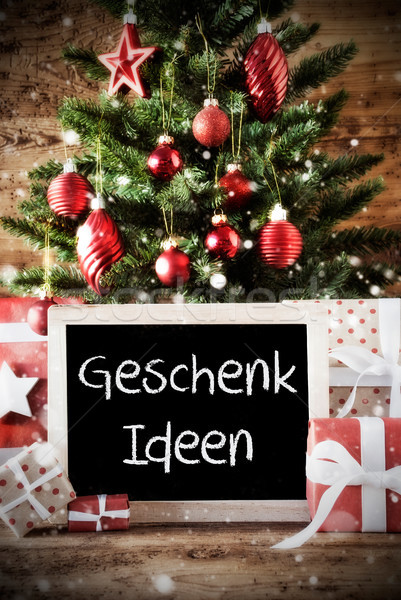 Christmas Tree With Bokeh Effect, Geschenk Ideen Means Gift Ideas Stock photo © Nelosa