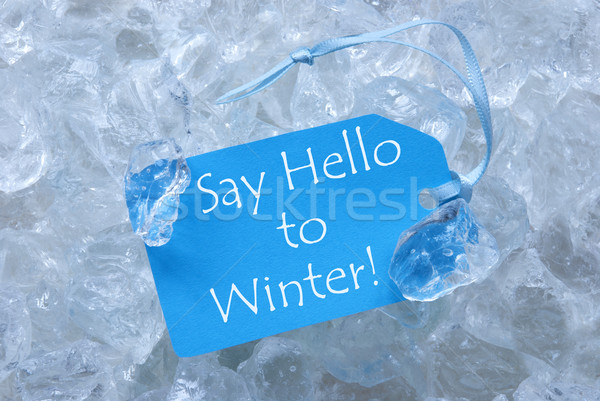 Label On Ice With Say Hello To Winter Stock photo © Nelosa