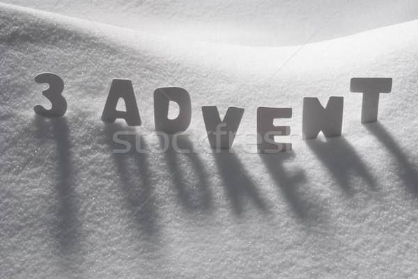 Fehér szó advent karácsony idő hó Stock fotó © Nelosa