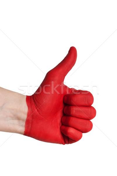 a red thumb up Stock photo © Nelosa