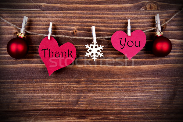 Thank You on Two Heart on a Line Stock photo © Nelosa