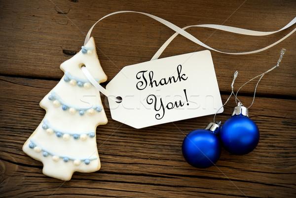 Christmas Background with Thank You Stock photo © Nelosa