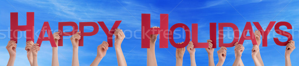 Foto stock: Pessoas · mãos · vermelho · em · linha · reta · palavra