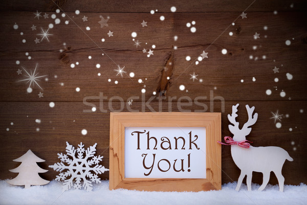 White Decoration On Snow, Thank You, Sparkling Stars Stock photo © Nelosa