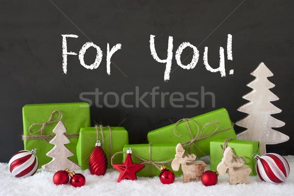 クリスマス 装飾 セメント 雪 文字 英語 ストックフォト © Nelosa