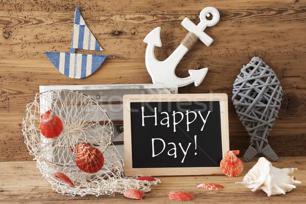 Tableau été décoration texte heureux jour Photo stock © Nelosa