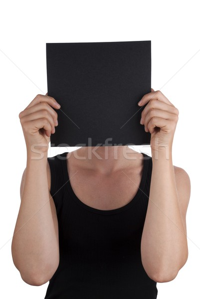 Person with a Black Square Stock photo © Nelosa