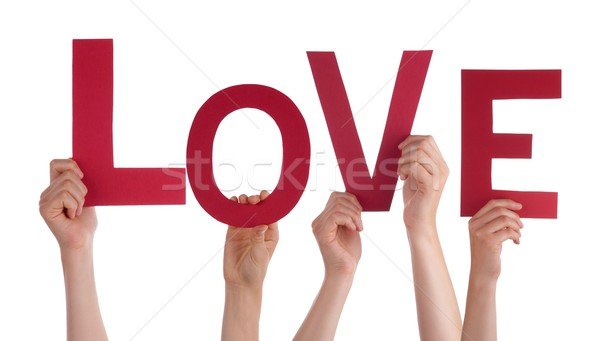 Persons Holding Love Stock photo © Nelosa