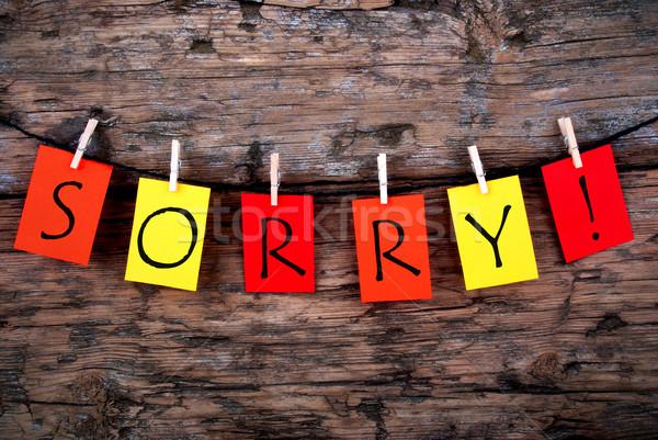 Sorry On A Line Stock photo © Nelosa