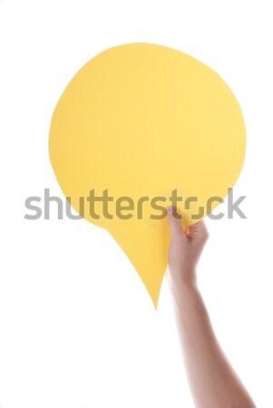 Yellow Empty Speech Balloon Stock photo © Nelosa