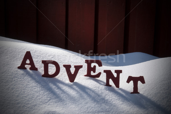 German Word Advent Means Christmas Time On Snow Stock photo © Nelosa