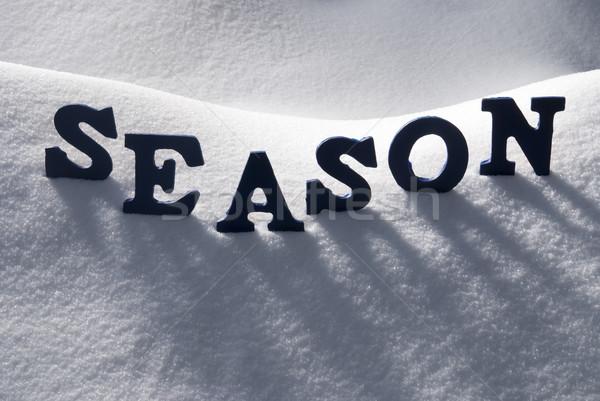 Blue Word Season On Snow Stock photo © Nelosa