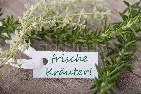 white label with frische Kraeuter Stock photo © Nelosa