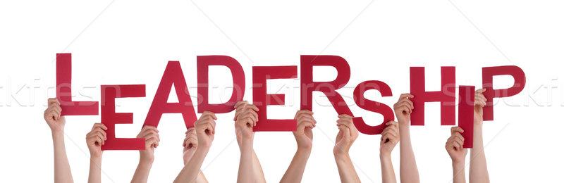 Hands Holding Leadership Stock photo © Nelosa