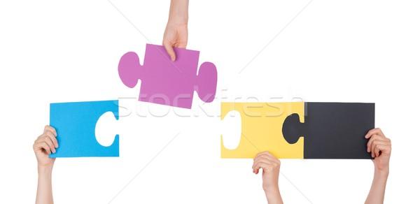 People Holding a Puzzle Stock photo © Nelosa