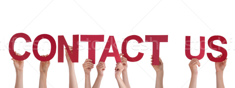 People Holding Contact Us Stock photo © Nelosa