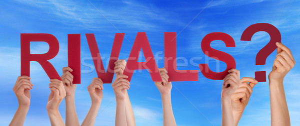 People Holding Rivals in the Sky Stock photo © Nelosa