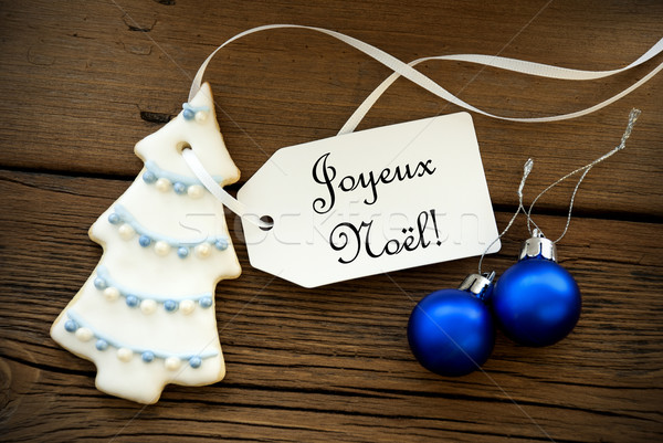 Christmas Background with French Christmas Greetings Stock photo © Nelosa