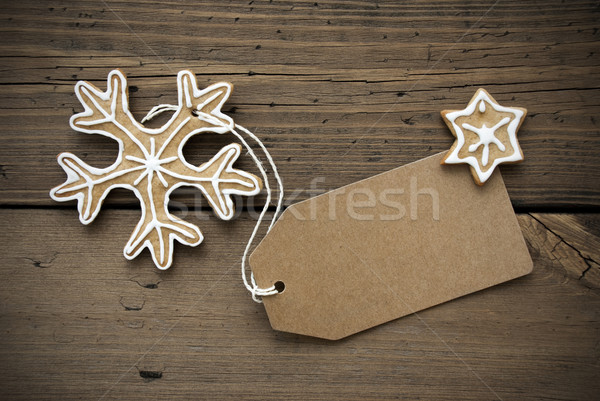 Banner with Copy Space and Ginger Bread Snowflake Stock photo © Nelosa