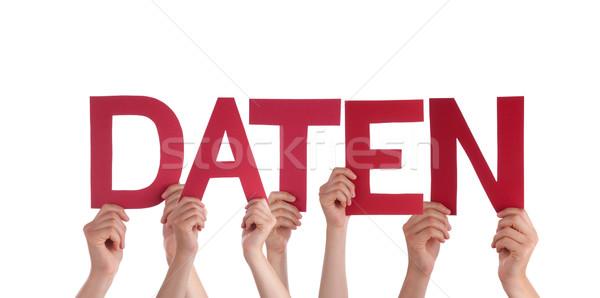 Personnes rouge droite mot données Photo stock © Nelosa