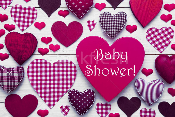 Pruple Heart Texture With Baby Shower Stock photo © Nelosa