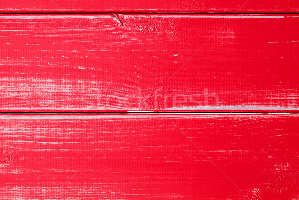 Red Wooden Slats Background With Copy Space Stock photo © Nelosa