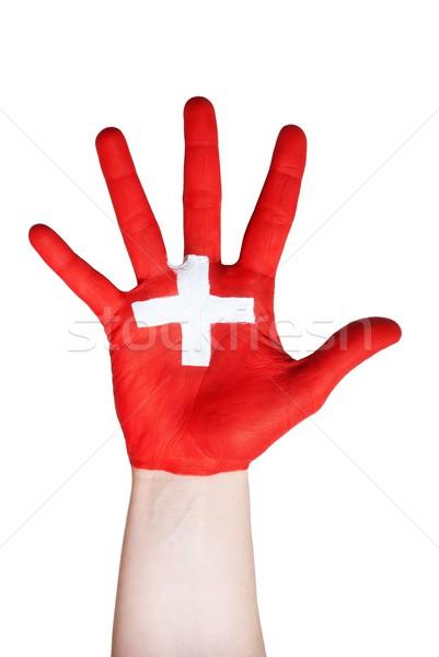 hand symbolizing switzerland Stock photo © Nelosa
