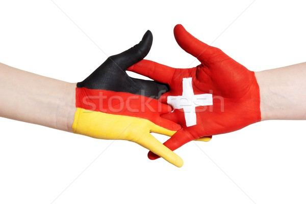 german-swiss partnership Stock photo © Nelosa